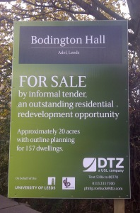 Bodington Hall is for sale. Some may not be sad, others will miss it with the kind of nostalgia that only comes from having adapted to crummy conditions and found it a bonding experience...